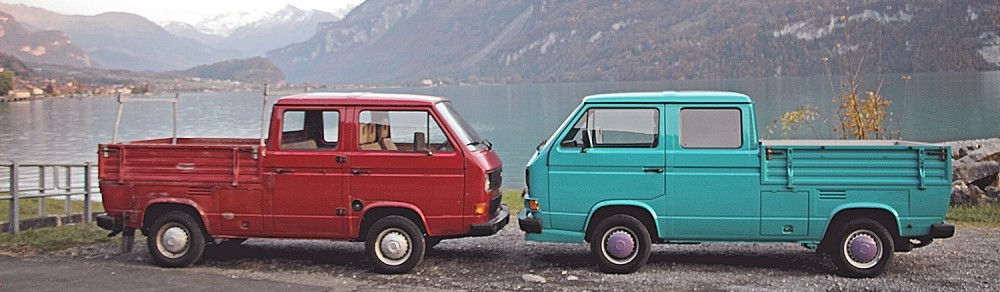 Klassische, Kultige, Hippie, Youngtimer, Oldtimer, Veteranen Automobile wie VW Bus T1, T2, T3 Panel Van, Split Windows, VW Camper Westfalia, Citroen 2CV, Mehari, Alfaromeo bei Kult-Automobile in Interlaken